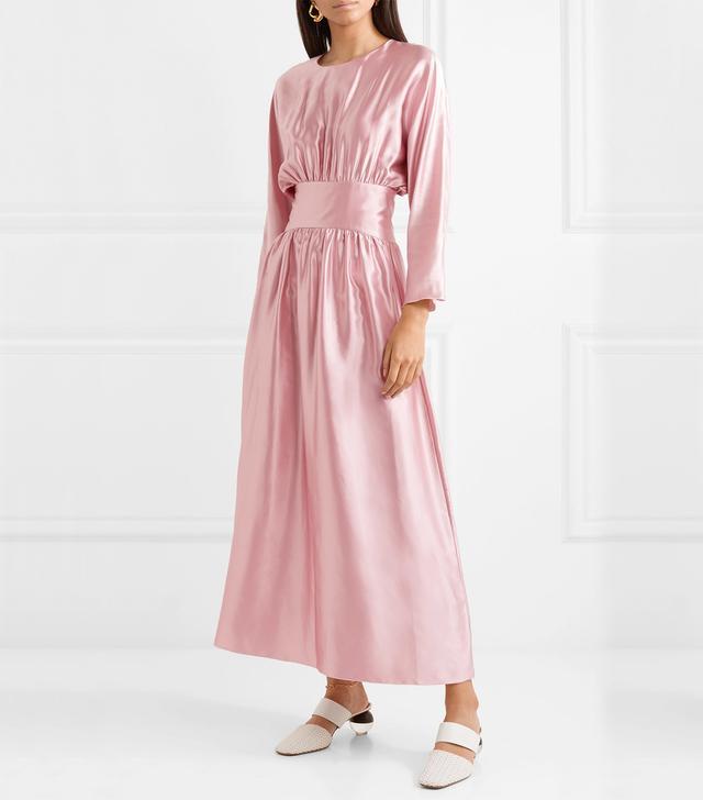 Hermine Silk-satin Midi Dress