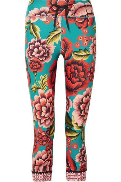 Frida Nyc Cropped Printed Stretch Leggings