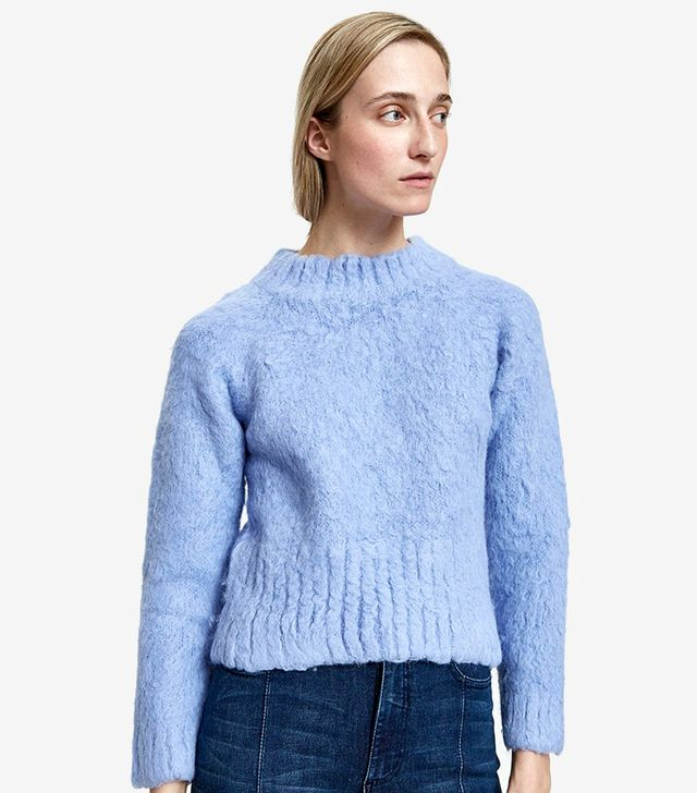 Recline Pullover in Silver Blue