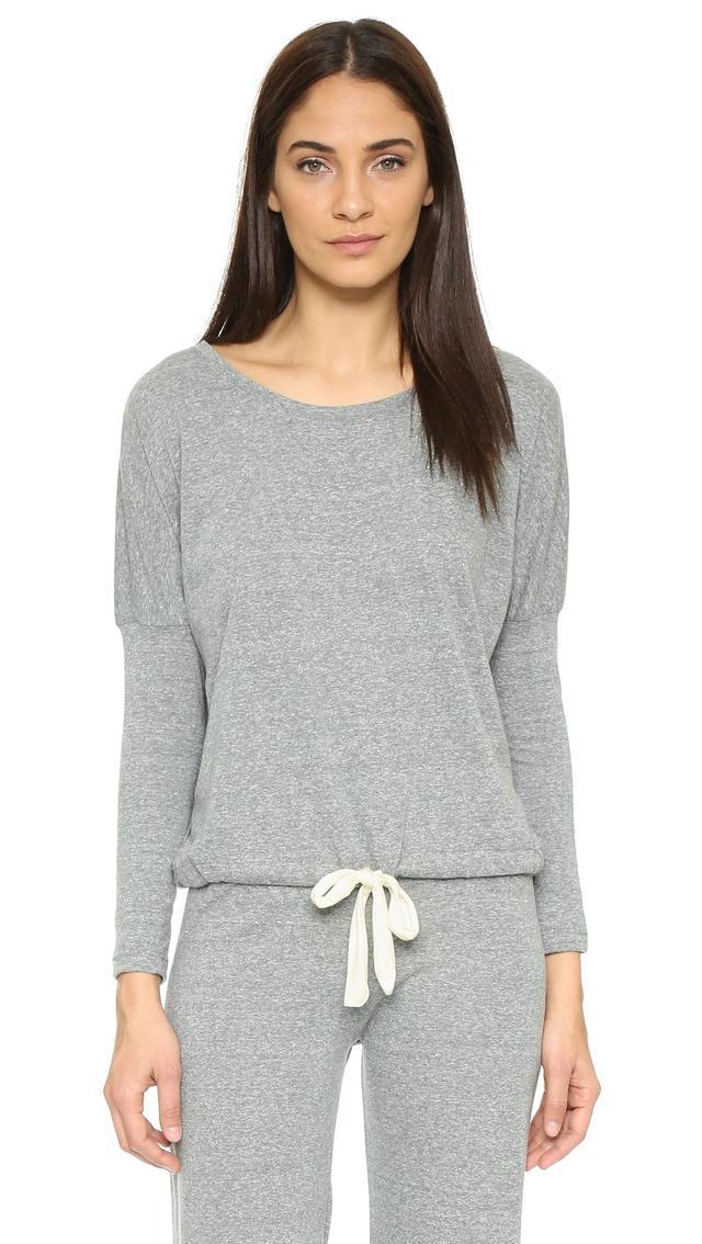 Heather Slouchy Pajama Top