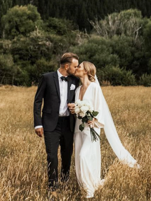 This Kiwi Fashion Blogger's Wedding Dress Is a Minimalist's Dream
