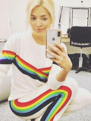 Holly Willoughby Proved She Is the Queen of Rainbow Stripes in This Zara Skirt