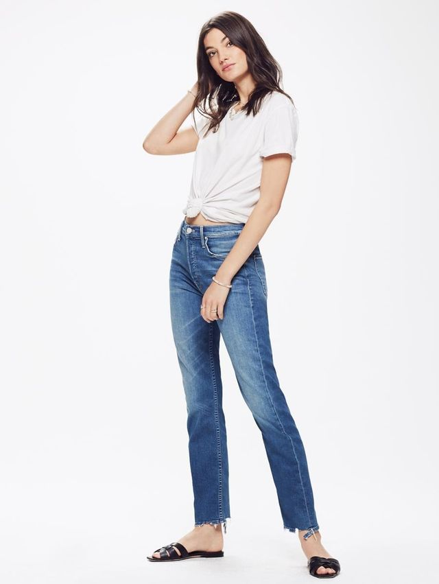 Mother Tomcat Ankle Jeans in Tequila Mockingbird