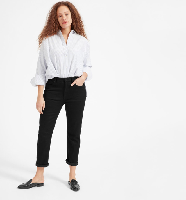 Women's Modern Boyfriend Jean by Everlane in Stay Black, Size 32
