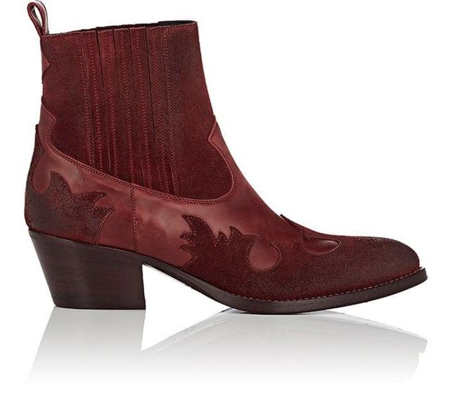 Women's Leather & Suede Western Ankle Boots