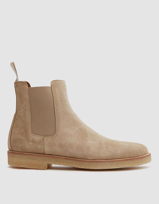 Chelsea Boot in Tan Suede