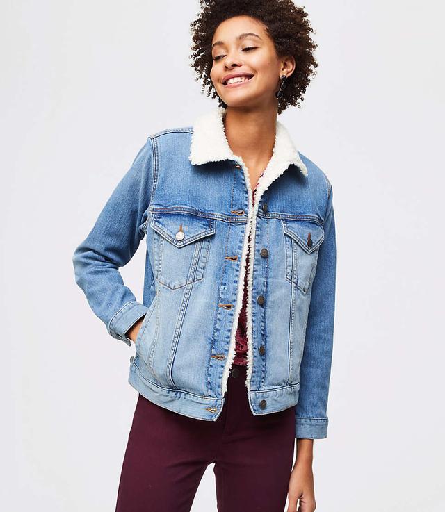 Loft Fleece Lined Denim Jacket