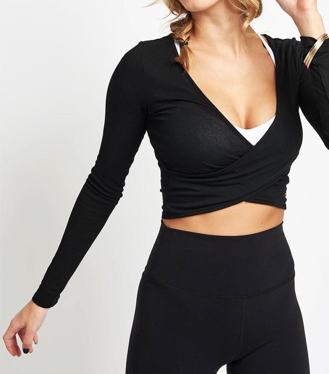 what to wear to yoga: Alo Yoga Amelia Long Sleeve Crop