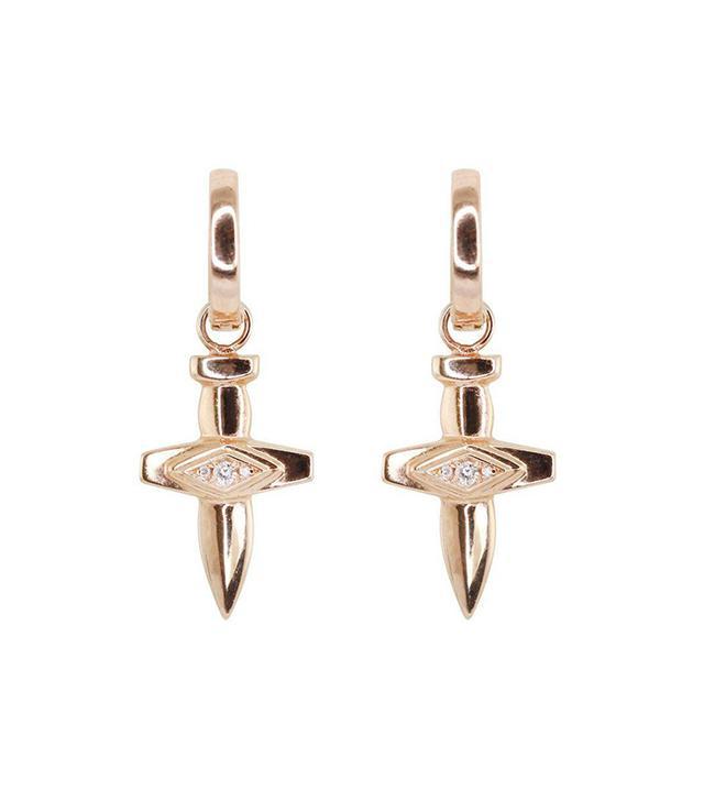 Luna Skye Diamond Dagger Sword Earrings