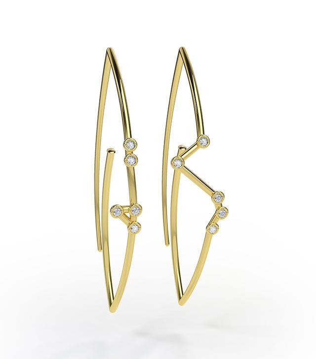 Jessie V E Constellation Earrings