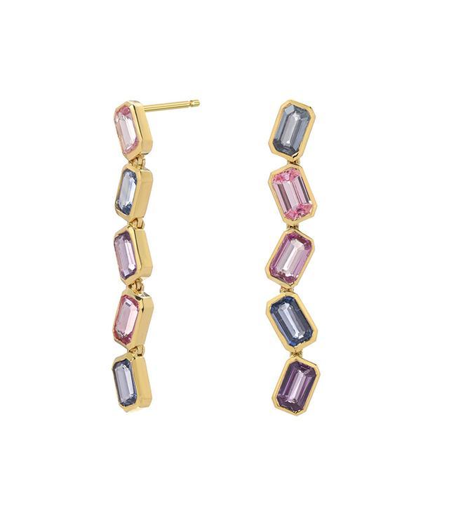 ERA Jewelry Brick Stack Mutli-Sapphire Earrings