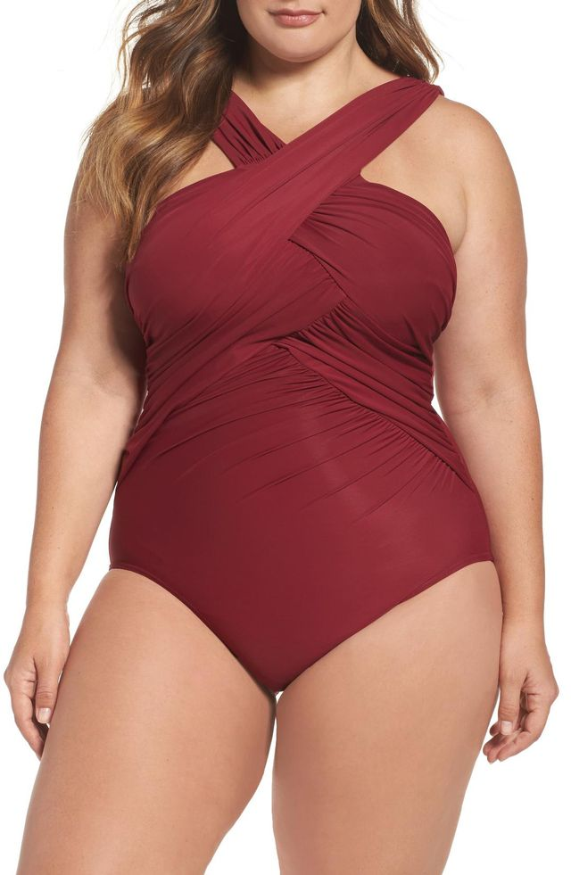 Women's Miraclesuit High Neck One-Piece Swimsuit