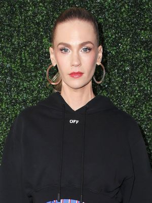 What Do You Think of January Jones's Red Carpet Hoodie?