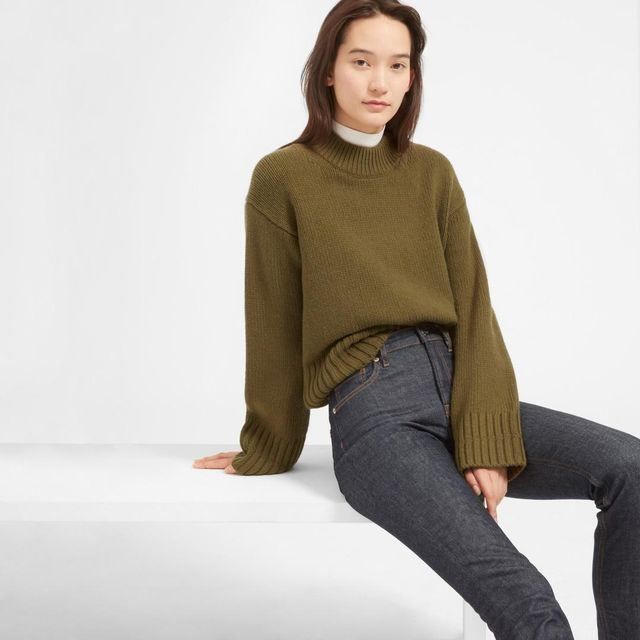 Everlane Wool-Cashmere Square Crew Sweater