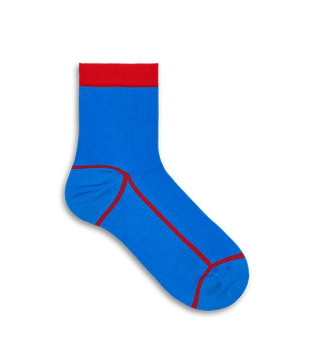 Happy Socks Lily Rib Ankle Sock