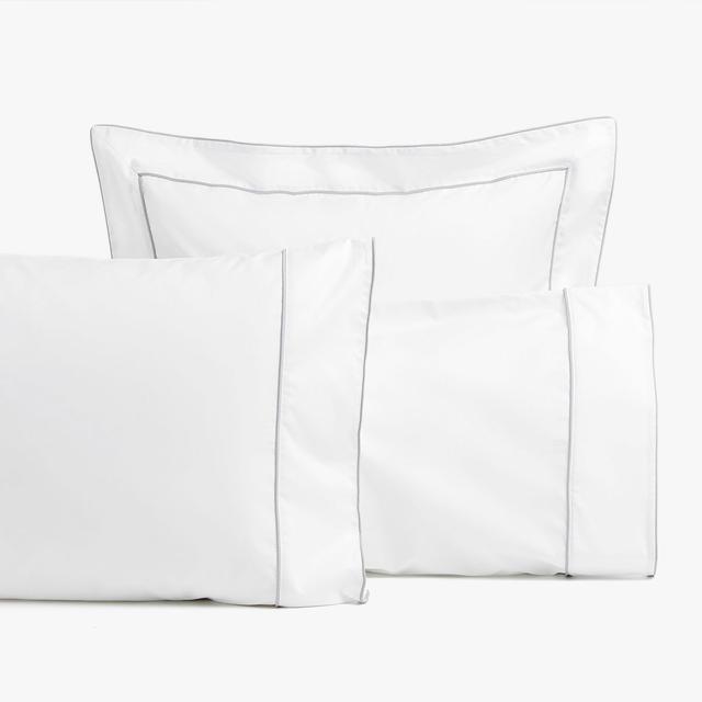 Zara Home Grey Piping Pillowcase