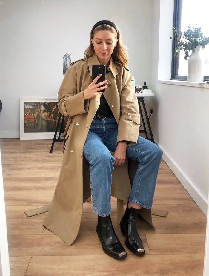 Capsule Wardrobe For Spring: Brittany Bathgate wears a trench coat