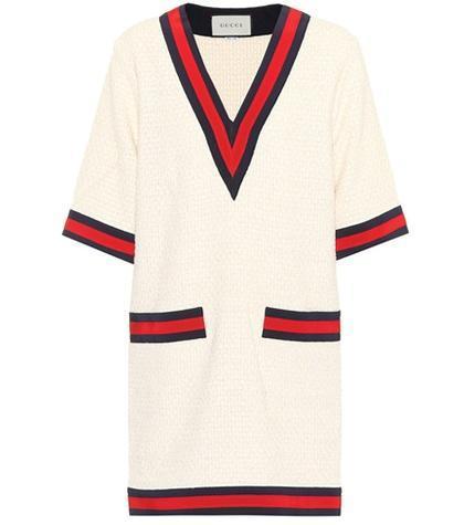 Cotton-blend sweater dress