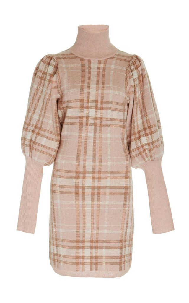 Unbridled Check Sweater Dress