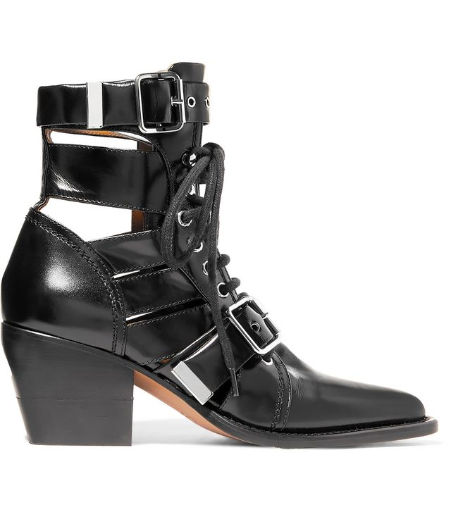 Rylee Cutout Leather Ankle Boots