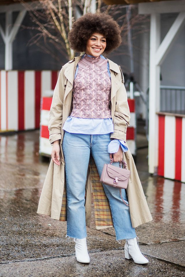 Rain or shine, the Berlin crowd knows the power of a classic coat.