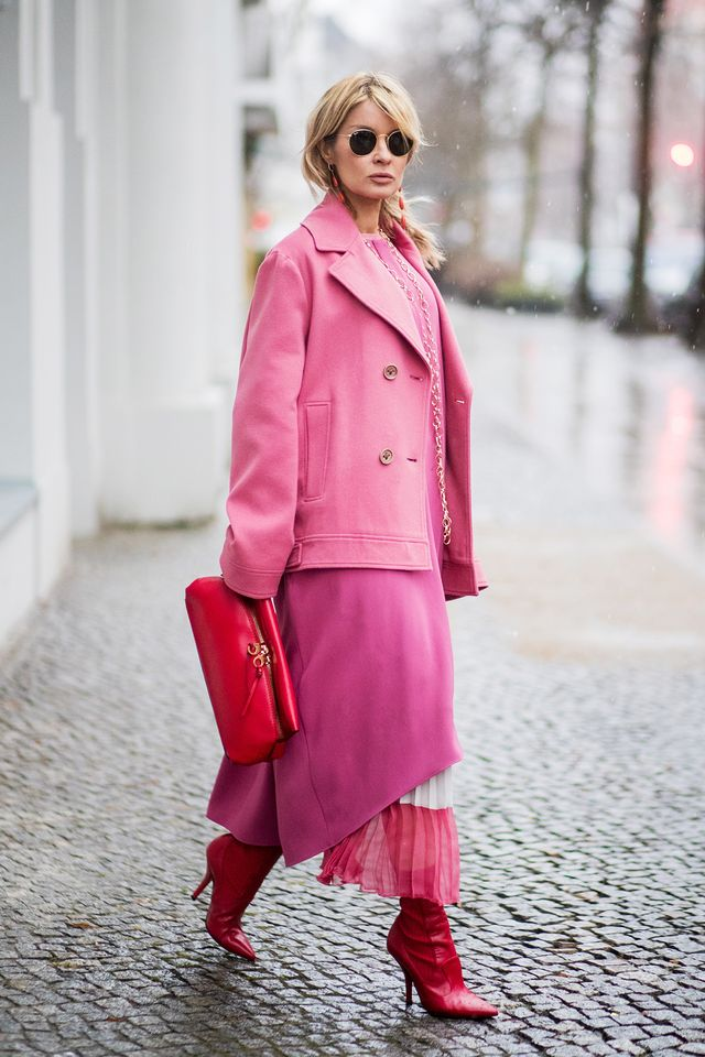 Even varying shades of pink take on a new life when layered like this. It's settled then—Berlin's street style is a strong player on the global scene, and it's acity we're keeping a...
