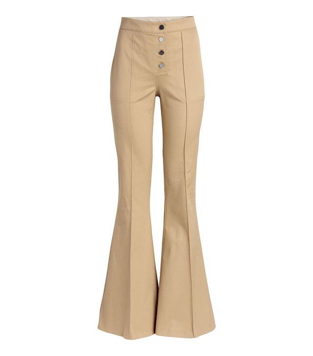 H&M Flared Twill Pants