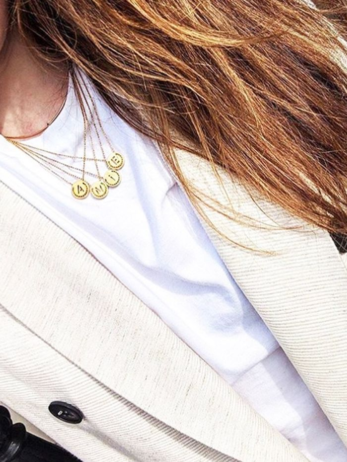 best coin necklaces: Emma Spedding in Ruifier
