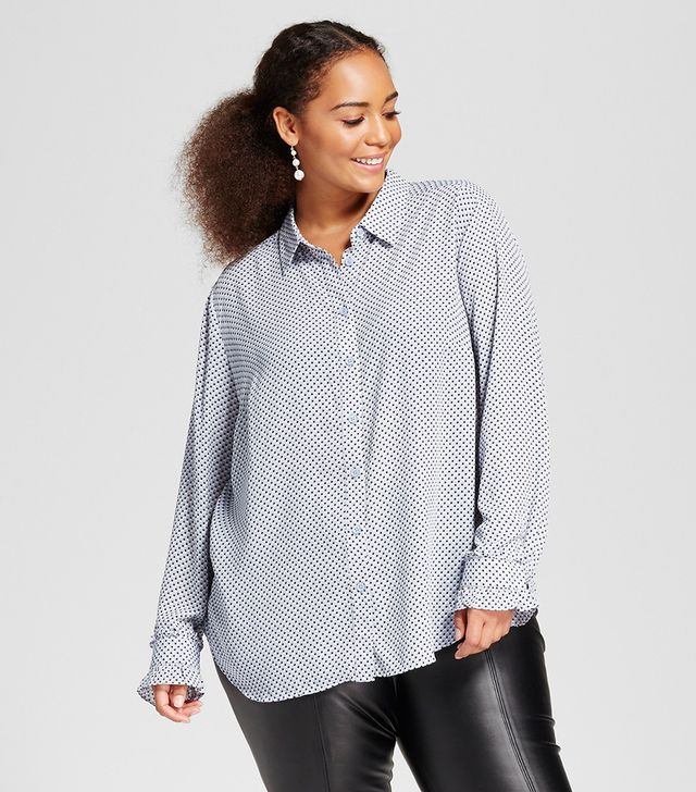 Who What Wear Ruffle Cuff Blouse