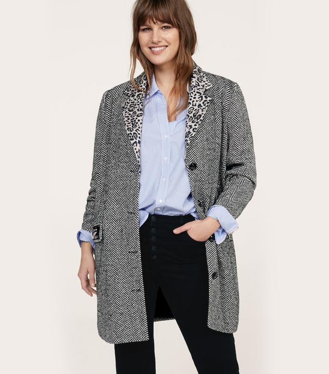 Violeta Herringbone Coat