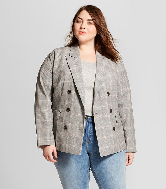 Who What Wear Cotton Poplin Blazer