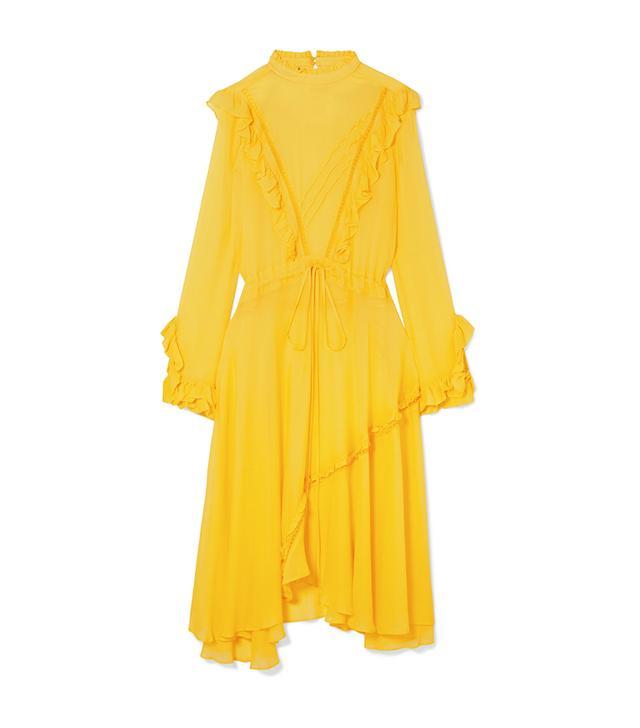 Deanna Ruffled Georgette Midi Dress