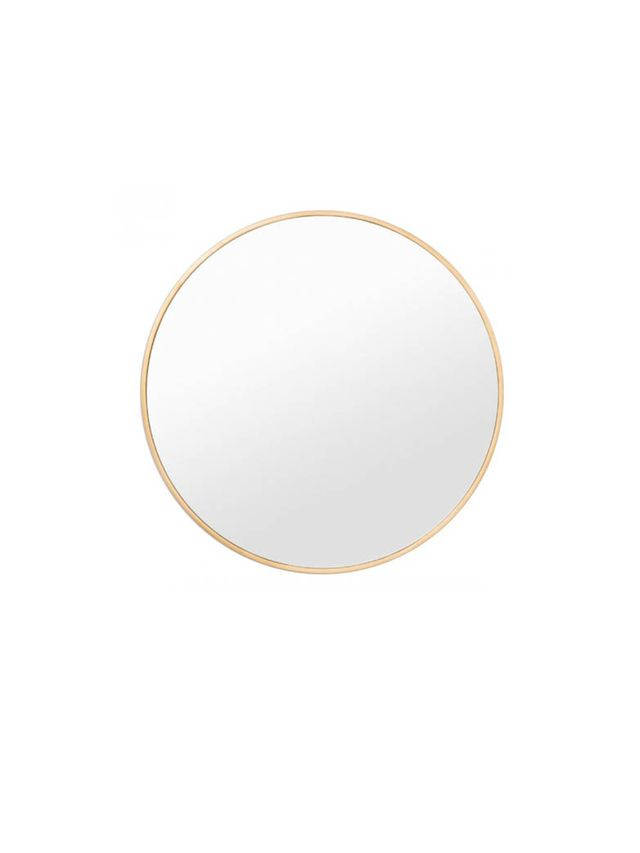 Middle of Nowhere Brass Round Mirror