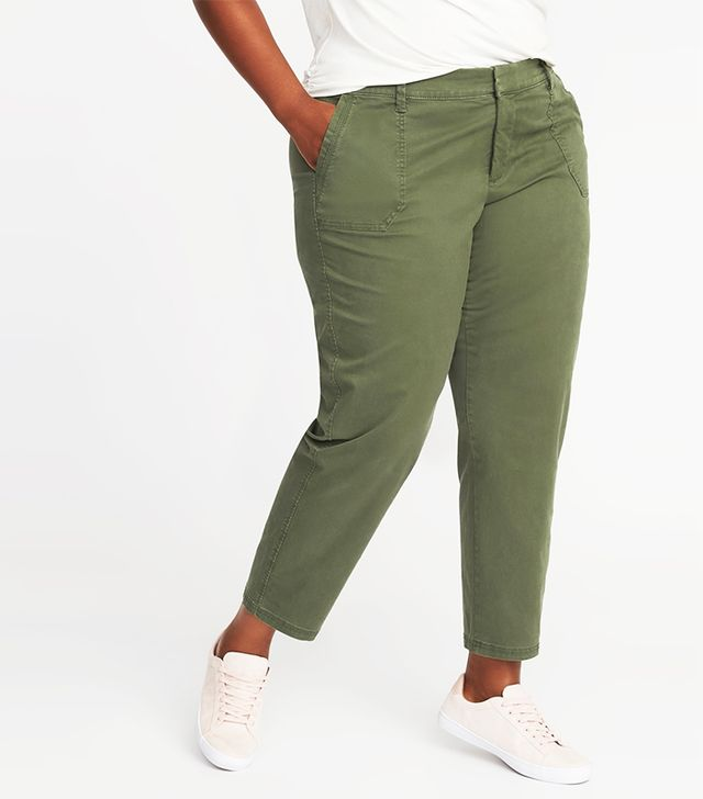Mid-Rise Smooth & Slim Plus-Size Pixie Utility Chinos