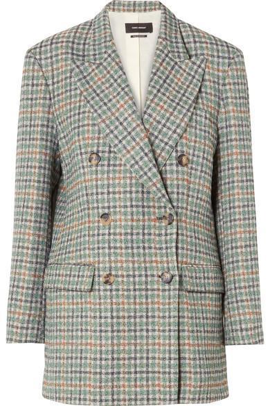Telis Oversized Checked Tweed Blazer