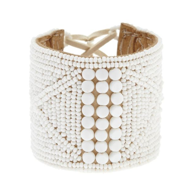 Sidai Designs Round Beaded Leather Bracelet