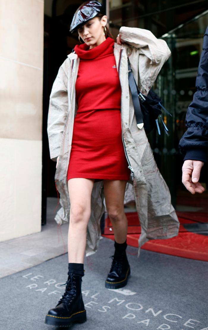 Bella Hadid Dr Martens Jaden boots: