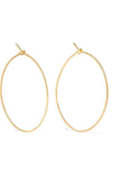 Hammered 18-karat Gold Earrings