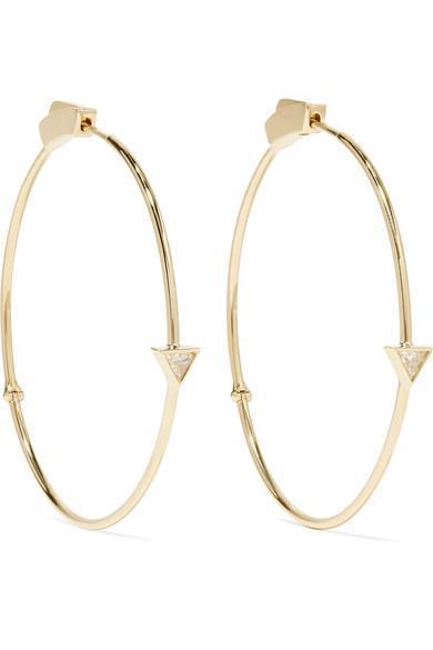18-karat Gold Diamond Hoop Earrings
