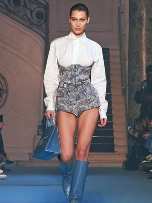 Everyone is Talking About These Denim Bustiers in Paris