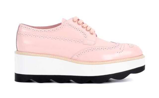 Leather platform Oxford shoes