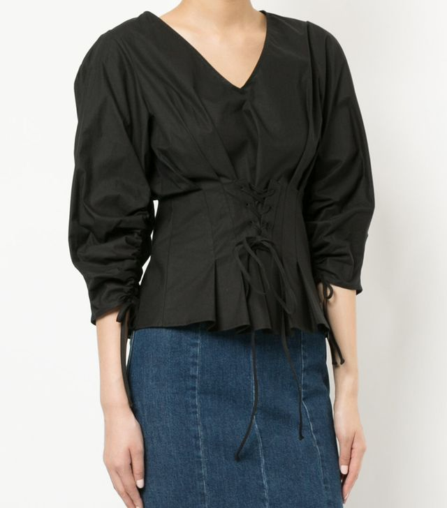 corseted blouse