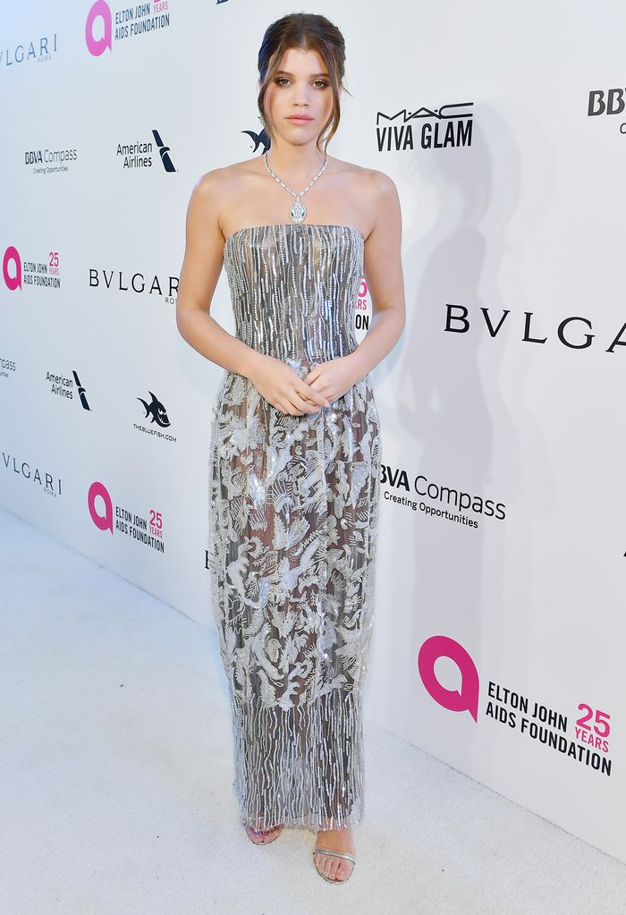 We Found All the Best-Dressed Models at Elton John's Oscars Party