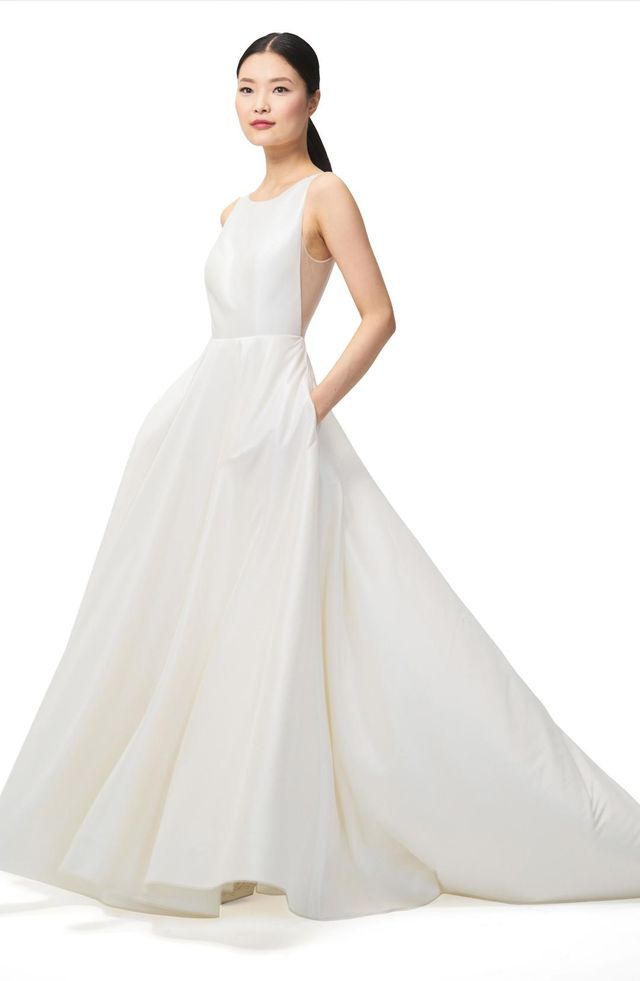 Ashton Plunge Back A-Line Gown