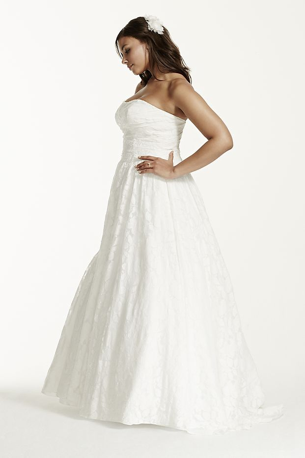 David's Bridal Lace Wedding Dress with Pockets