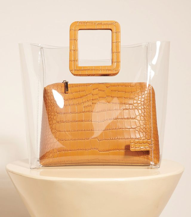 Staud Shirley Bag Clear/Tan