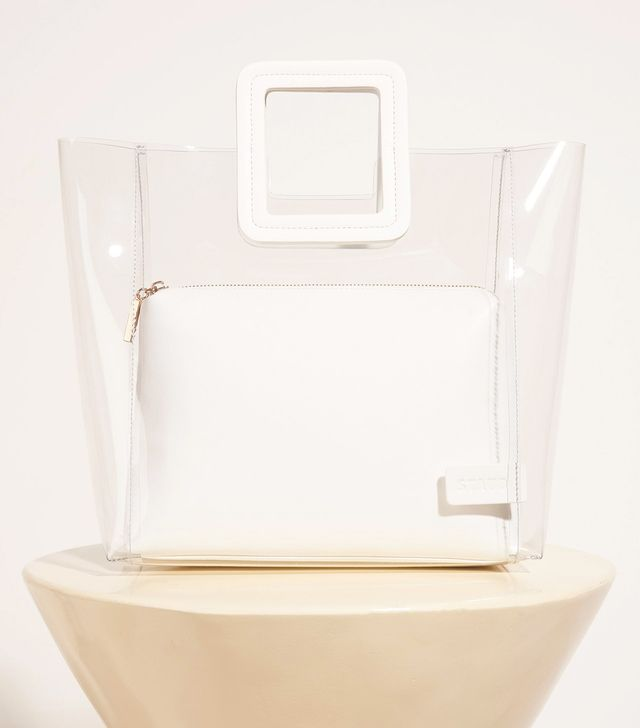 Staud Shirley Bag in Clear/White