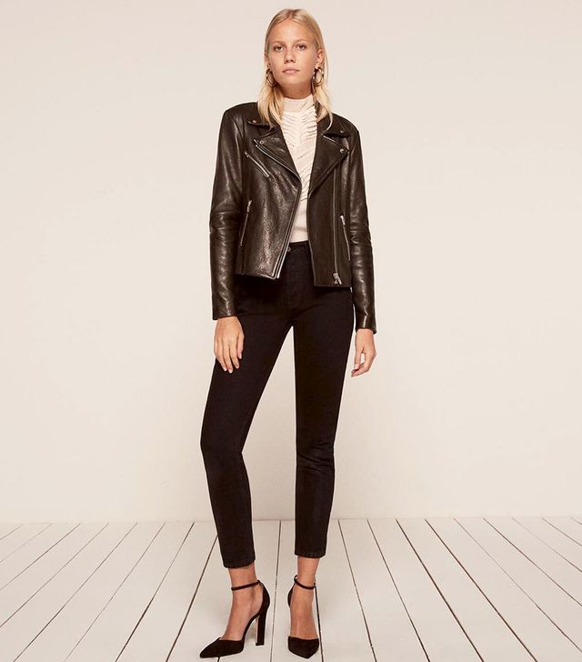 The Reformation x Veda Bad Leather Jacket