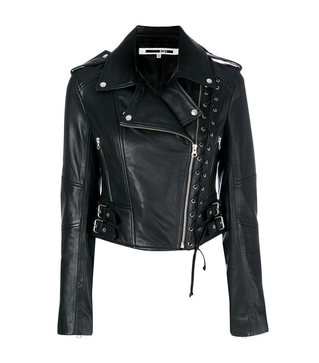 McQ Alexander McQueen Eyelet Biker Jacket