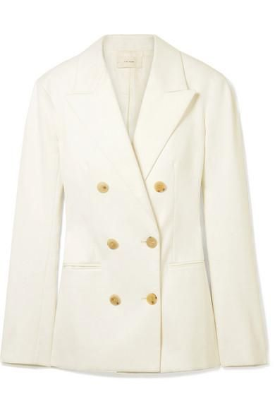 Rupsen Double-breasted Cotton-twill Blazer